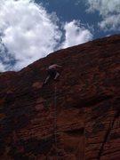 Rock Climbing Photo: 1st Climb at red Rock