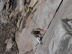 Rock Climbing Photo: onsight, free solo, first ascent Dogs of War 5.10c