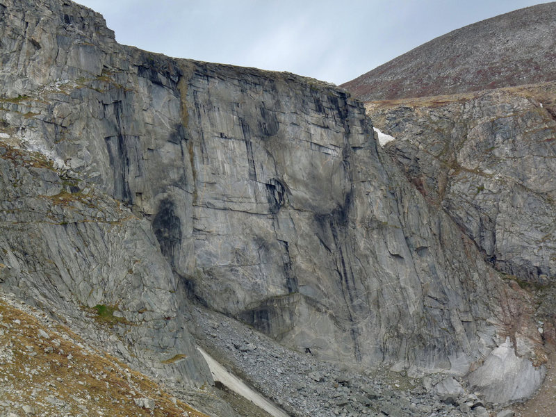 Rock Climbing Photo: The Black Wall as seen from the Chicago Lakes over...