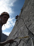 """Rock Climbing Photo: pitch 5 or 6 on """"The Barb"""", Spearhead, R..."""