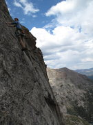 Rock Climbing Photo: Last pitch on Sykes Sickle, Spearhead, RMNP.