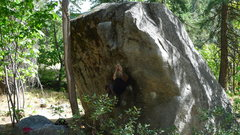 Rock Climbing Photo: Jared Lavacque flashing Fridge Center V4 at the Fr...