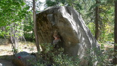 Rock Climbing Photo: Jared Lavacque repeating Fridge Center V4 at the F...