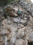 Rock Climbing Photo: David on the F.A. PAdilla photo.