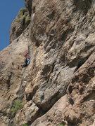 Rock Climbing Photo: David Bloom getting the F.A. of Gobiphobia. Padill...