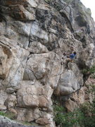 Rock Climbing Photo: Approaching the crux on Pop....of Snap, Crackle an...