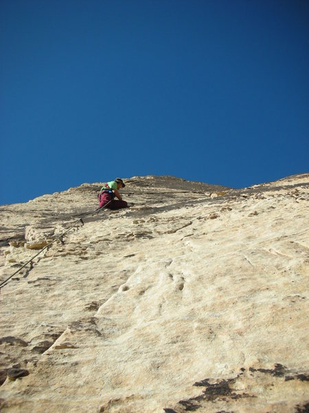 Rock Climbing Photo: Larry on the 2nd pitch