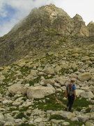 Rock Climbing Photo: On the approach to the South Ridge of Piz Balzet