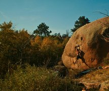 Rock Climbing Photo: Frank sending Building Blocks on a gorgeous Fall d...
