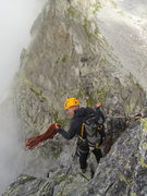 Rock Climbing Photo: Preparing the 15m abseil to the path leading to th...