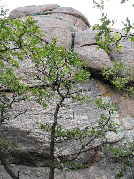 Rock Climbing Photo: Lichen to Liken (5.8), Mosaic Rock, Tres Piedras, ...