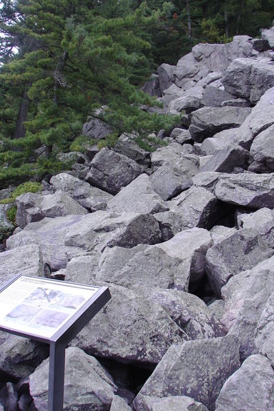 Rock Climbing Photo: Massive Vertigo is just up hill and left from this...