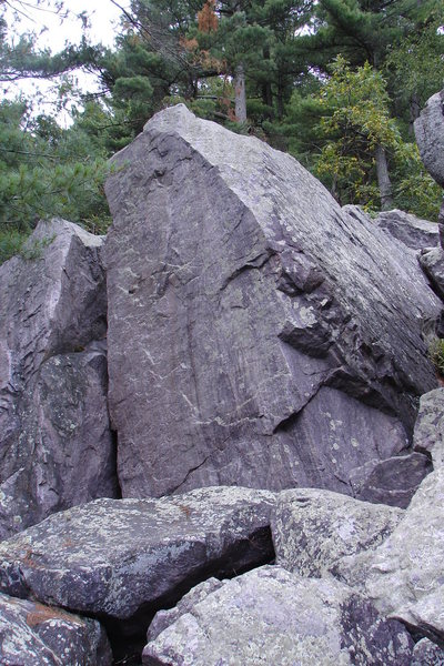 Rock Climbing Photo: Large boulder just left of Group Leader.  The land...
