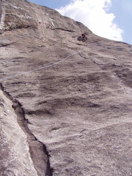 Rock Climbing Photo: P1 crux