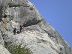 Rock Climbing Photo: Wayne And Will Getting ready for the FFA of Pitch ...