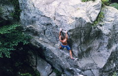 Rock Climbing Photo: Mid way up Devils Dander 5.11 V4/5