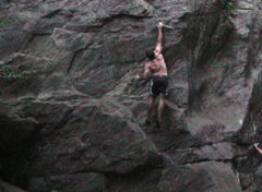 Rock Climbing Photo: dyno version of the route