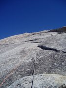 Rock Climbing Photo: the endless slabs above Snake Dike