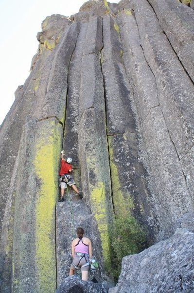 Rock Climbing Photo: Thad Arnold onsights The Wiggle Room.