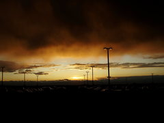 Rock Climbing Photo: Sunset at DIA.  Nice to be home...