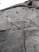 Rock Climbing Photo: First pitch of Fat Crack City.