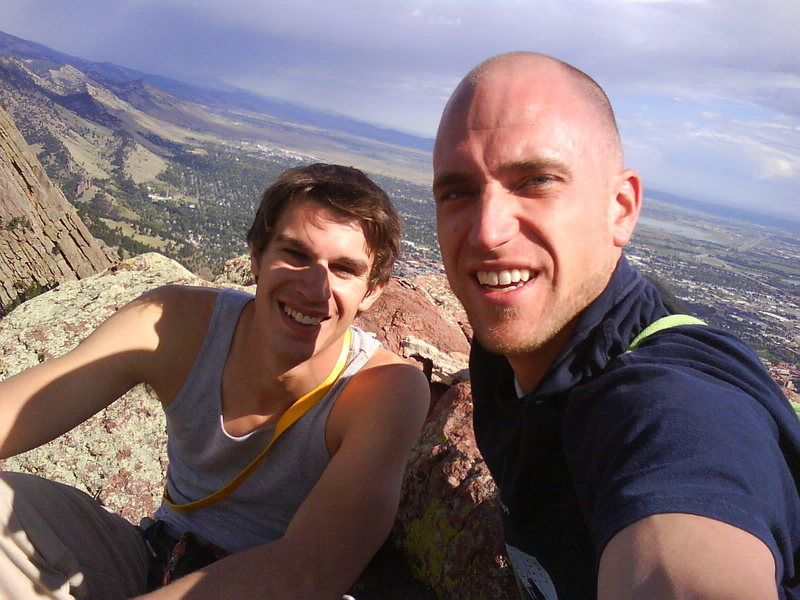 Rock Climbing Photo: Nevik and Ryno on the summit of the 3rd Flatiron, ...