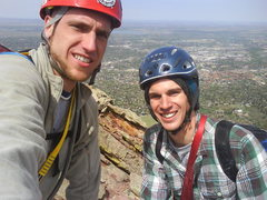 Rock Climbing Photo: Nevik and Ryno 1st Flatiron summit 5/9/09