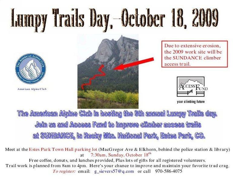 Lumpy Ridge Trails Day poster