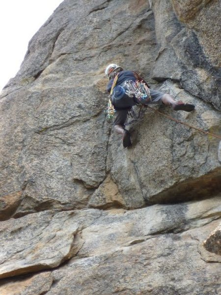 Rock Climbing Photo: Tennessee on P2 direct variation (c) Scott Nomi.