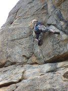 Rock Climbing Photo: Tennessee on P2 direct variation (c) Scott Nomi.
