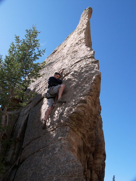 Rock Climbing Photo: Dan Stackhouse at the crux.