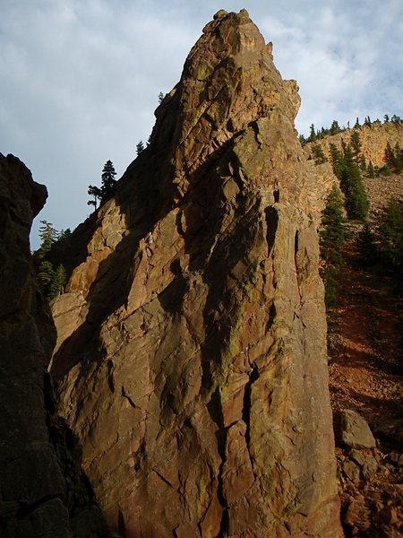 Rock Climbing Photo: The Bastille with a climber on The Bastille Crack.