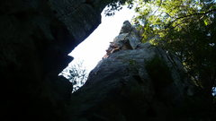 Rock Climbing Photo: John K. free soloing Eagle Rare at Necedah