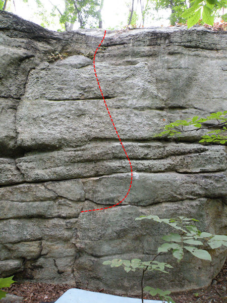 Rock Climbing Photo: Start with your left hand on the flake at the begi...