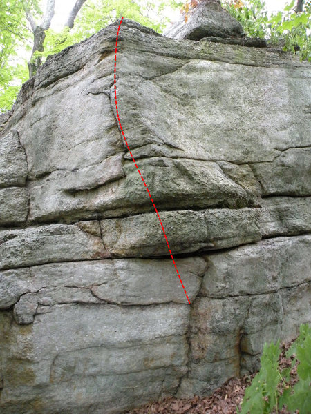 North East Arete of the Lower Wawarsing Boulder