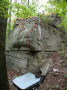 Rock Climbing Photo: Watch the left facing flake, it felt a little bit ...