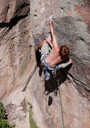 Rock Climbing Photo: Stephen succeeding with his third different sequen...