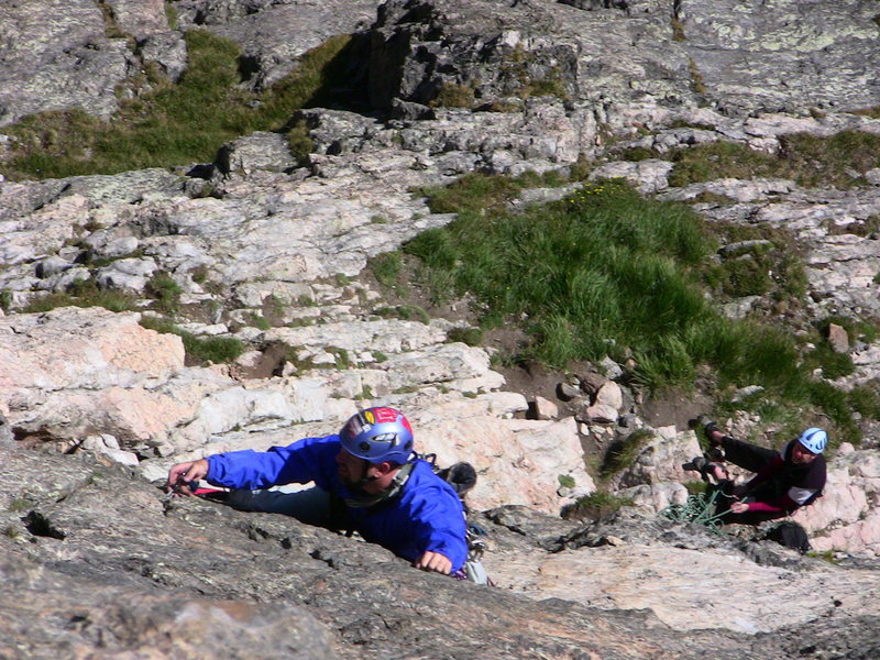 Rock Climbing Photo: Alex charging up the beautiful 5th pitch.