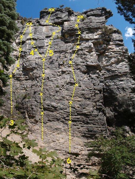 Juniper Wall<br> 3. [[106049264]] 5.10b<br> 4. [[106056211]] 5.11c<br> 5. [[106544069]] 5.11a<br> 6. [[106756659]] 5.10d