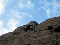 Rock Climbing Photo: Near the top of Hidden Splendor