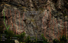 "Rock Climbing Photo: Correction on ""The Canal Zone's"" left/mi..."
