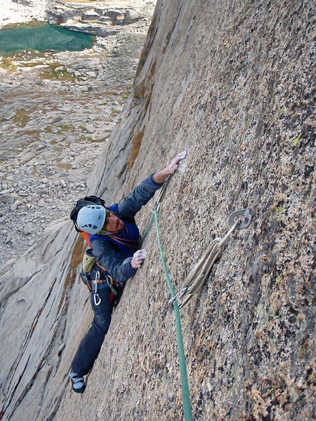 Seth Finkelstein climbing some sweet stone on Spear Me the Details.