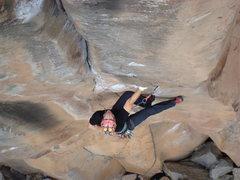 Rock Climbing Photo: Darren firing Three Turkeys (11c).  photo by Gomol...