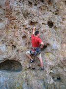 Rock Climbing Photo: Near the start of Moss Monkey.
