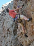Rock Climbing Photo: At the third clip on Made in the Shade.