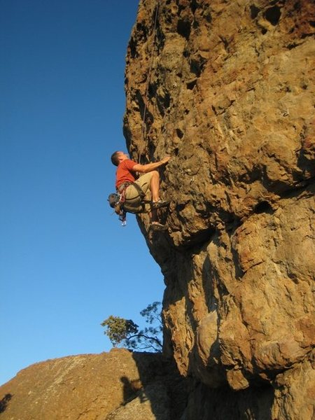 Rock Climbing Photo: Juggin' for the top of Prodigal Son.