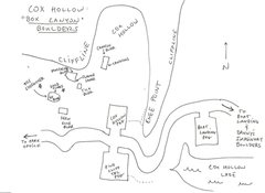 Rock Climbing Photo: Schema of Cox Hollow/Box Canyon Boulders.  My memo...
