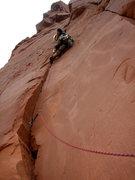 Rock Climbing Photo: P3-The crux....
