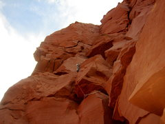 Rock Climbing Photo: P4-Looks chossy, but has some fun, easy climbing
