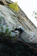 Rock Climbing Photo: Erik doing the high step.